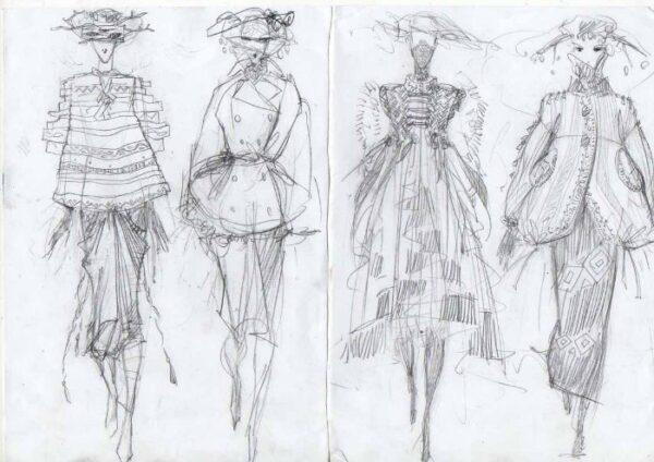 Техники, приемы , средства для создания эскизов одежды